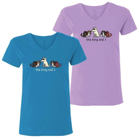 The King and I- Ladies T-Shirt V-Neck