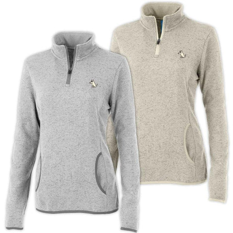 Teddy's Fleece Ladies Quarter Zip Pullover
