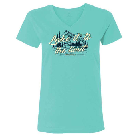Lake It To The Limit - Ladies T-Shirt V-Neck