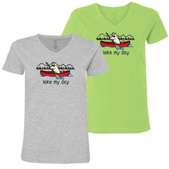 Lake My Day - Ladies T-Shirt V-Neck
