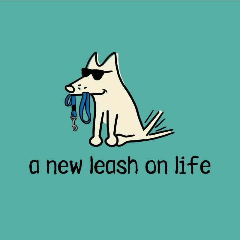 New Leash On Life - Ladies T-Shirt V-Neck - Teddy the Dog T-Shirts and Gifts