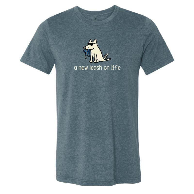 New Leash On Life - T-Shirt Lightweight Blend - Teddy the Dog T-Shirts and Gifts
