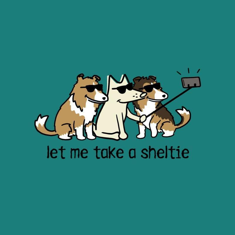 Let Me Take A Sheltie - Ladies T-Shirt V-Neck