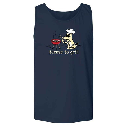 License To Grill - Mens Tank
