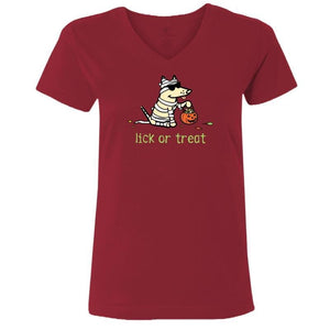 Lick Or Treat - Ladies T-Shirt V-Neck