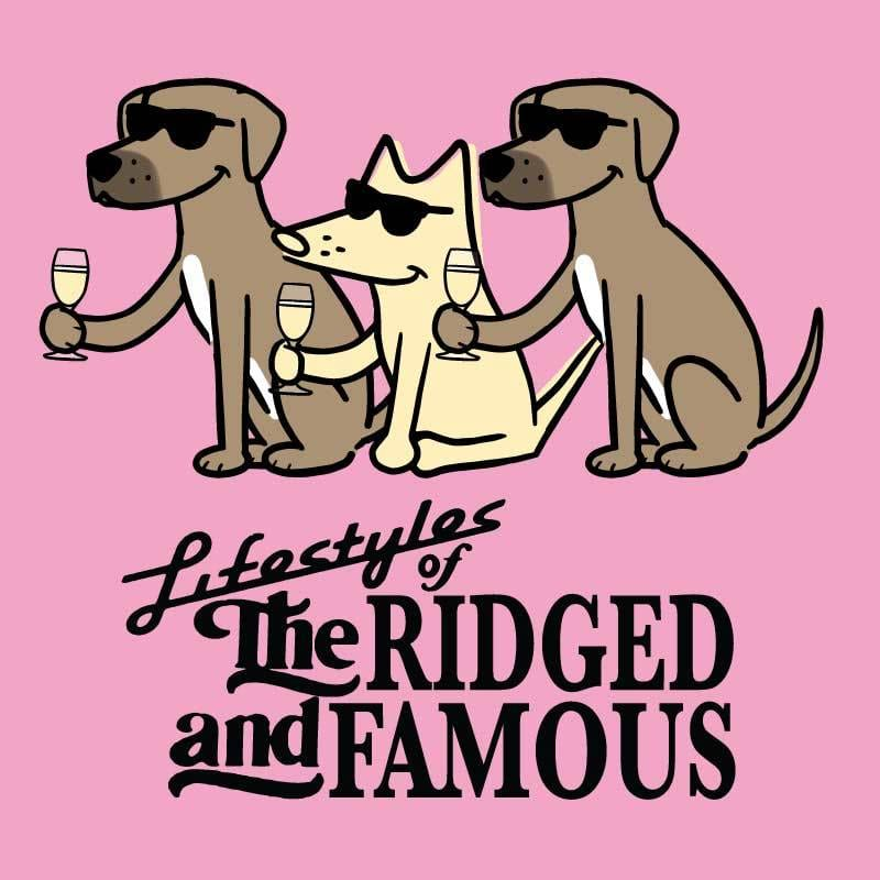 Lifestyles Of Ridged And Famous  - Ladies T-Shirt V-Neck