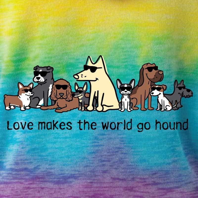 Love Makes The World Go Hound - Youth Pullover Hoodie