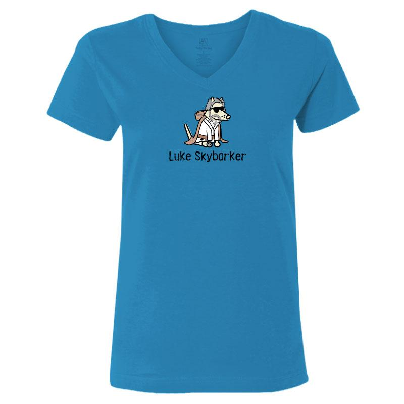 Luke Skybarker - Ladies T-Shirt V-Neck