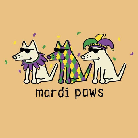 Mardi Paws - Long-Sleeve T-Shirt Classic - Only Small and Medium left