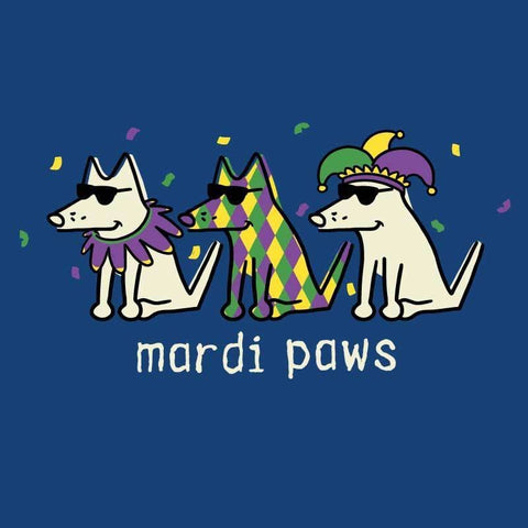 Mardi Paws - Ladies Curvy V-Neck Tee