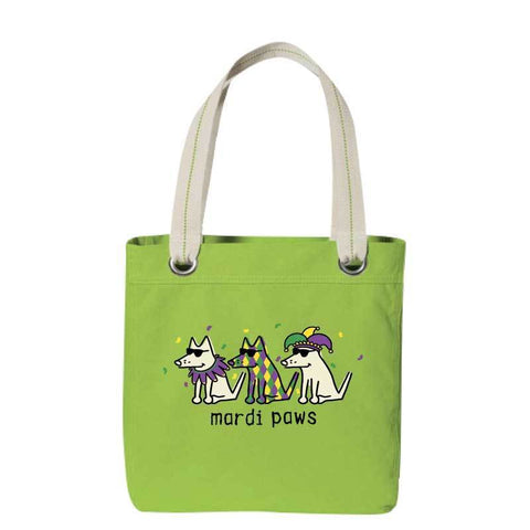 Mardi Paws - Canvas Tote