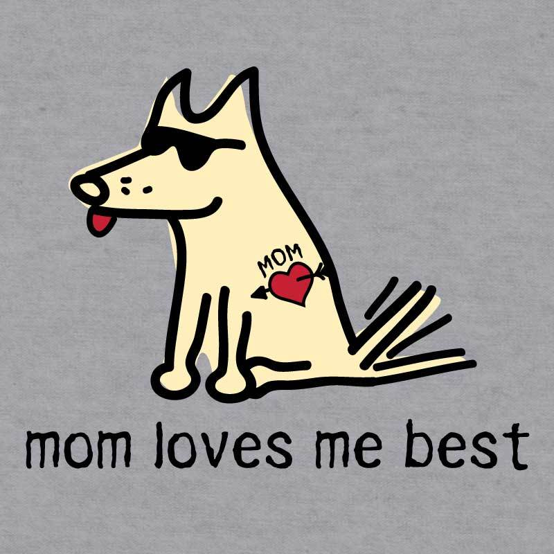 Mom Loves Me Best - Baseball T-Shirt