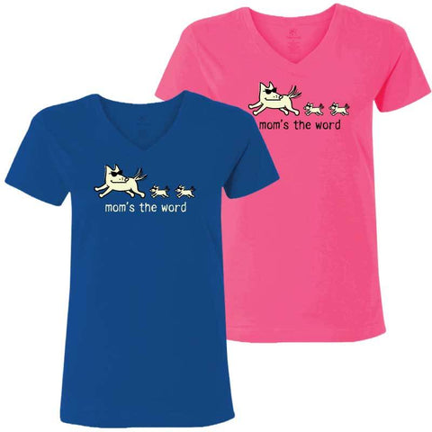 Mom's the Word - Ladies T-Shirt V-Neck