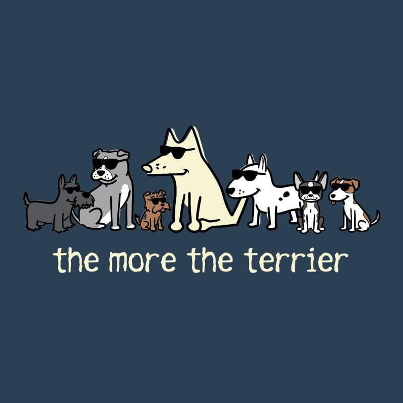 The More The Terrier - Ladies Curvy V-Neck Tee