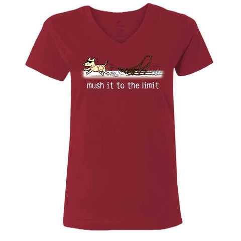 Mush It to The Limit - Ladies T-Shirt V-Neck