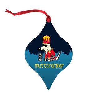 Muttcracker - Aluminum Christmas Ornament