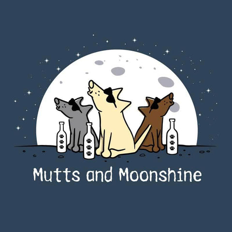 Mutts And Moonshine - Ladies T-Shirt V-Neck