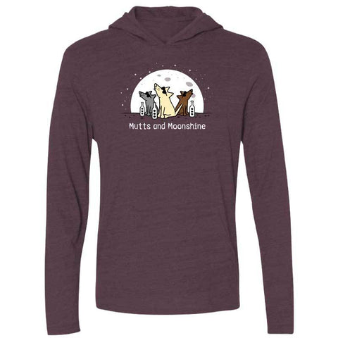 Mutts And Moonshine - Long-Sleeve Hoodie T-Shirt