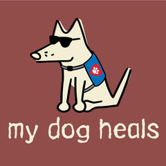 my dog heals garment dyed classic t-shirt