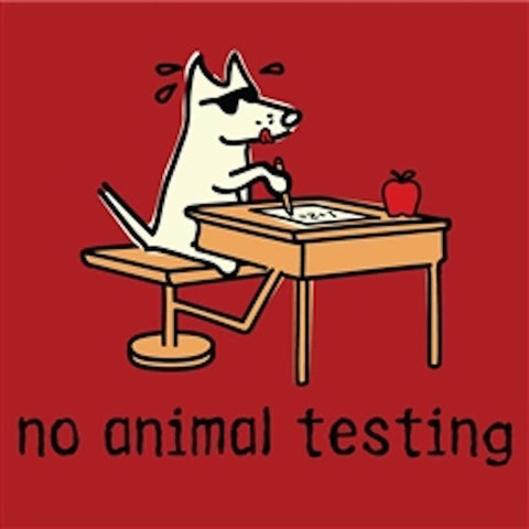 No Animal Testing T-Shirt - Kids - Teddy the Dog T-Shirts and Gifts