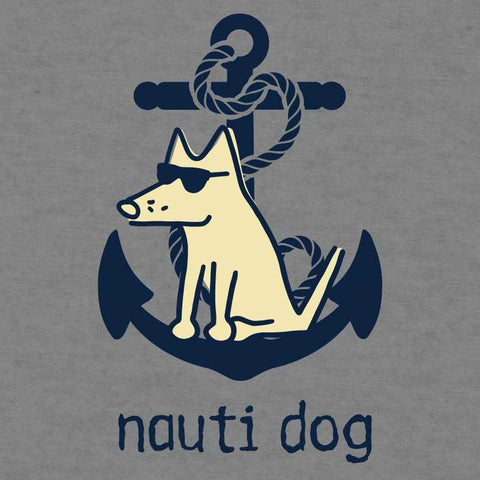 Nauti Dog - Ladies Curvy V-Neck Tee