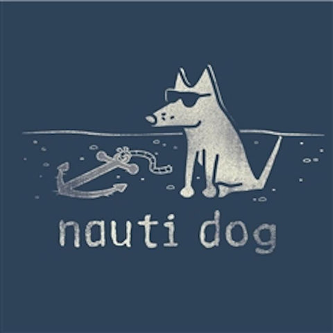 Nauti Dog - Ladies T-Shirt V-Neck - Teddy the Dog T-Shirts and Gifts
