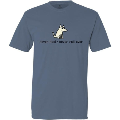 never heel never roll over garment dyed classic t-shirt