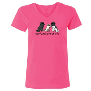 Newfound Love of Life - Ladies T-Shirt V-Neck