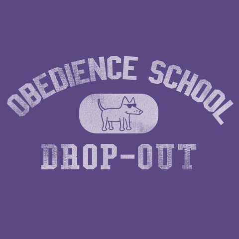 Obedience School Drop Out - Ladies T-Shirt V-Neck