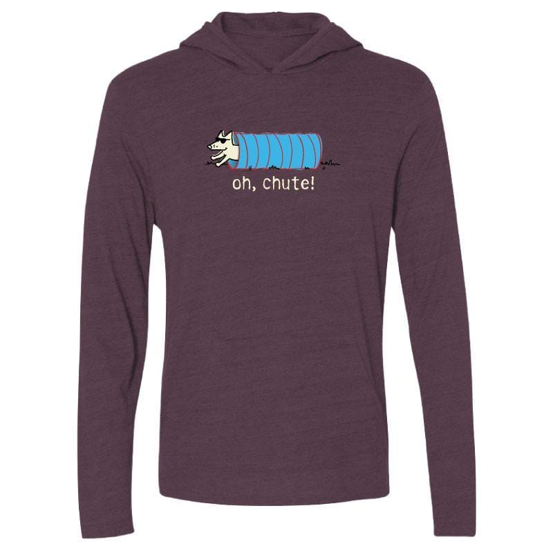 Oh, Chute! Long Sleeve T-Shirt Hoodie - Teddy the Dog T-Shirts and Gifts
