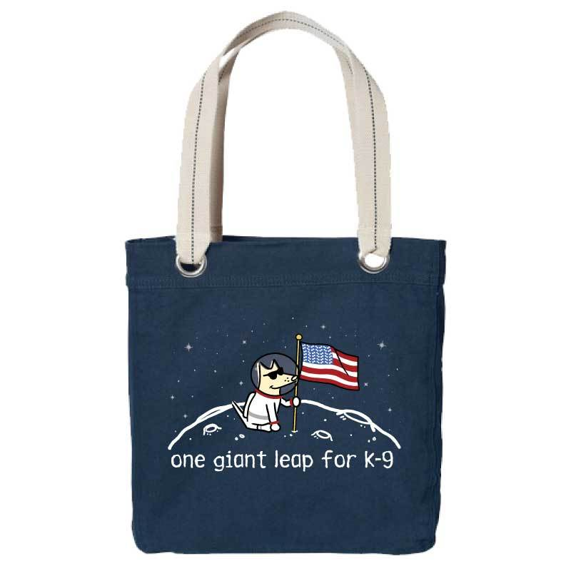 One Giant Leap For K-9 - Canvas Tote