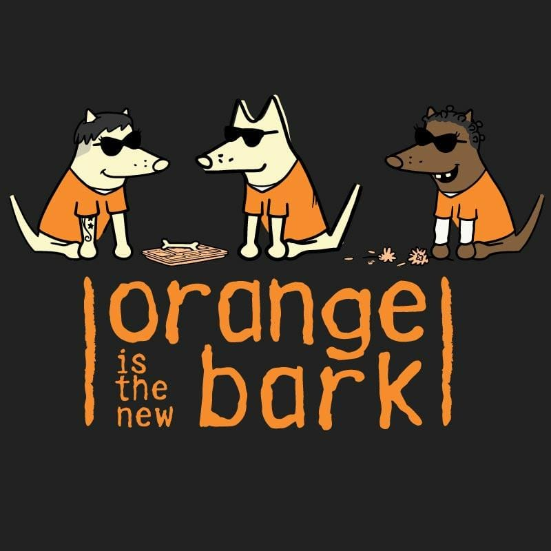 Orange Is The New Bark - Ladies T-Shirt V-Neck