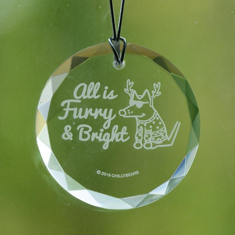 All Is Furry And Bright - Christmas Ornament