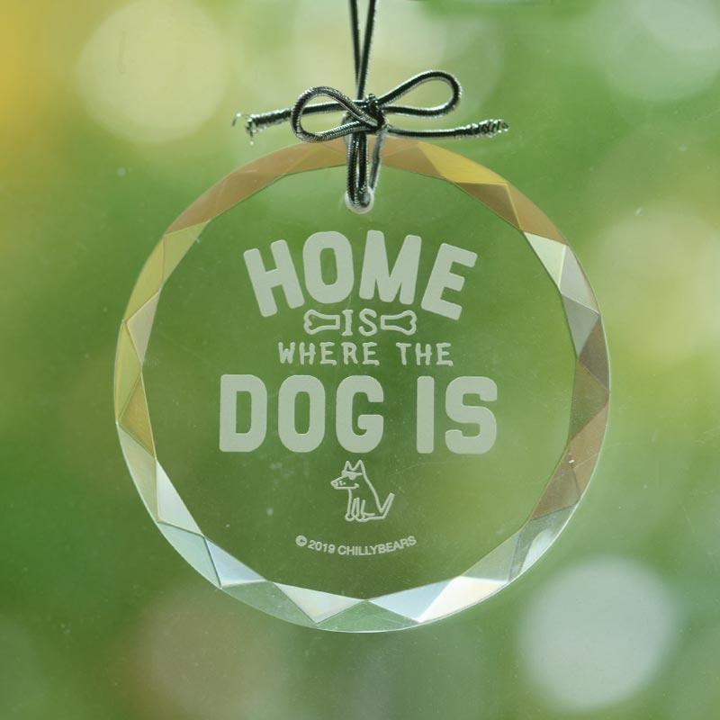 Home Is Where The Dog Is - Christmas Ornament