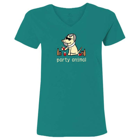 Party Animal - Ladies T-Shirt V-Neck