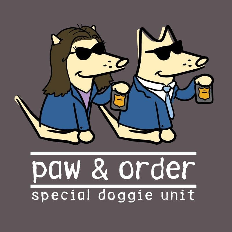 Paw And Order: Special Doggie Unit - Ladies T-Shirt 3-4 Sleeve