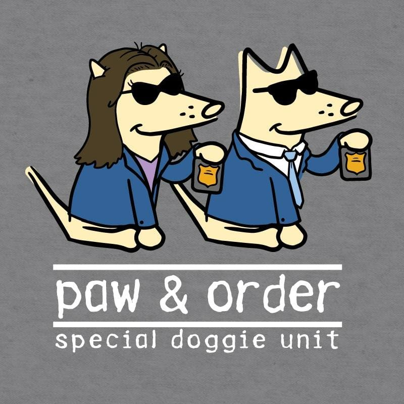 Paw And Order: Special Doggie Unit - Ladies Curvy V-Neck Tee