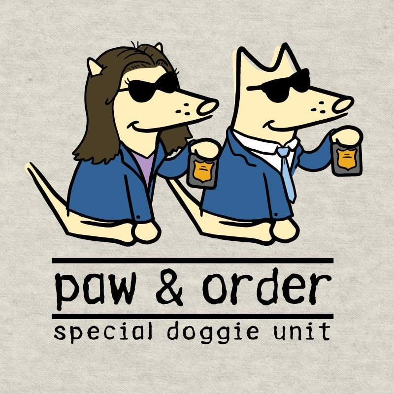 Paw And Order: Special Doggie Unit - Ladies T-Shirt V-Neck