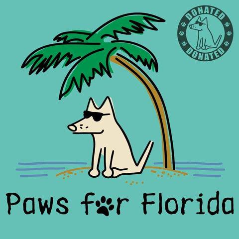 Paws For Florida  - Ladies Curvy V-Neck Tee
