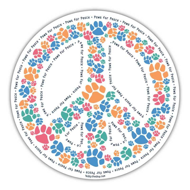 Paws For Peace - Car Magnet