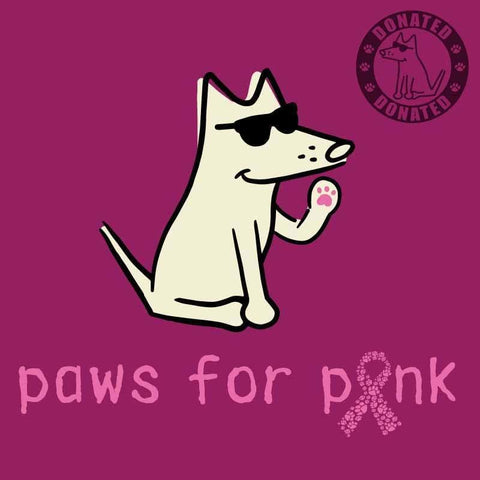 Paws For Pink - Ladies T-Shirt 3-4 Sleeve