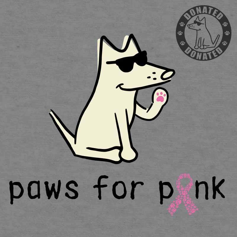 Paws For Pink - Ladies Curvy V-Neck Tee