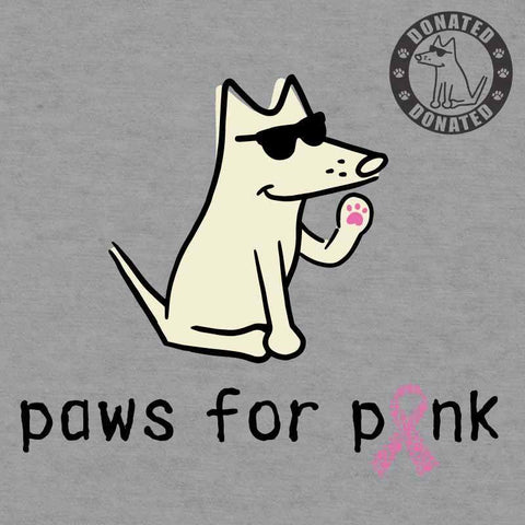 Paws For Pink - Ladies T-Shirt Crew Neck