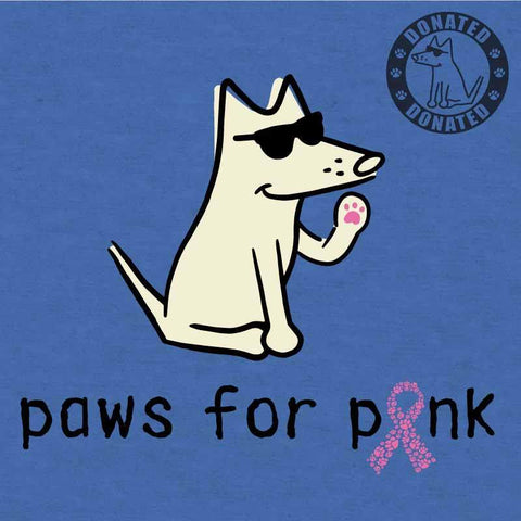 Paws For Pink - Lightweight Tee