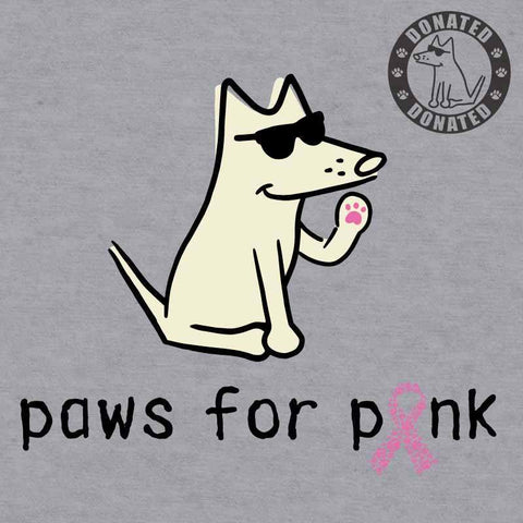 Paws For Pink - Baseball T-Shirt