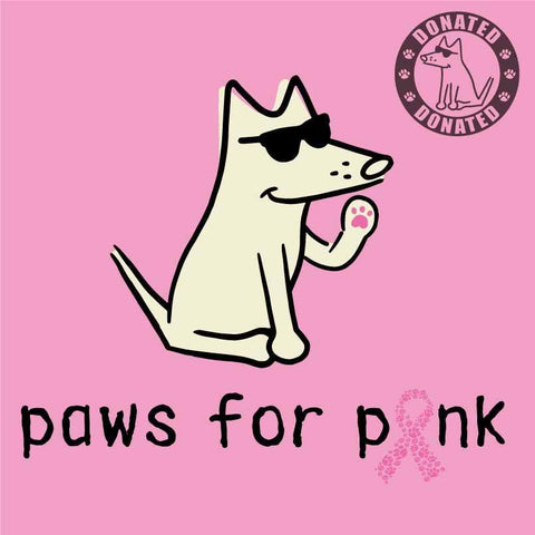 Paws For Pink - Ladies T-Shirt V-Neck