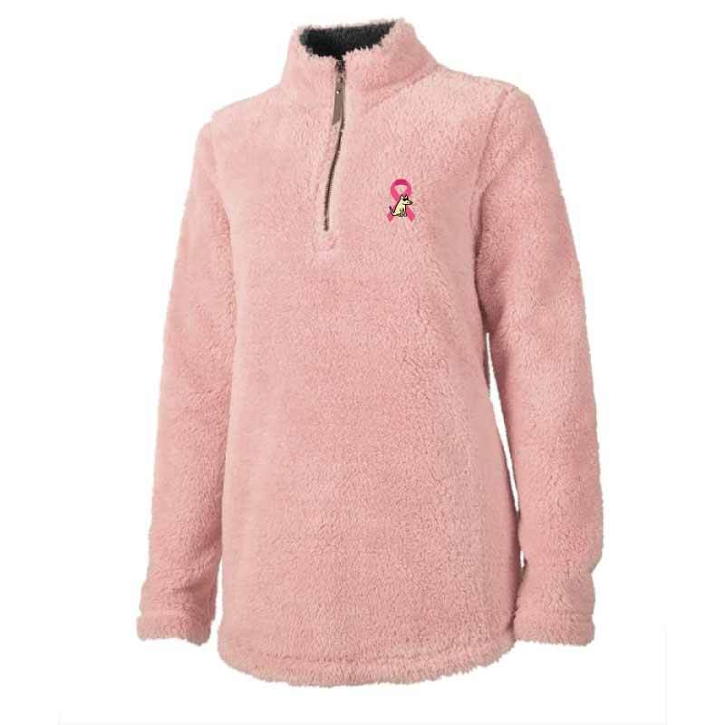 Paws for Pink - Ladies Fleece Quarter Zip Pullover