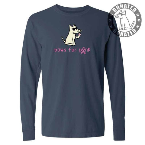 Paws For Pink - Classic Long-Sleeve T-Shirt Classic