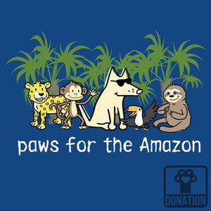 Paws For The Amazon - Ladies Curvy V-Neck Tee