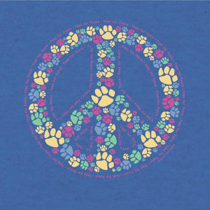 Paws For Peace - T-Shirt Lightweight Blend - Teddy the Dog T-Shirts and Gifts